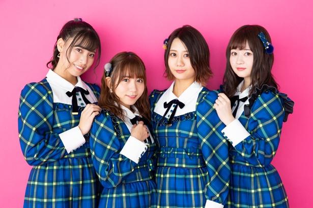 荒井優希、大場美奈、古畑奈和、江籠裕奈(1)(写真左から)