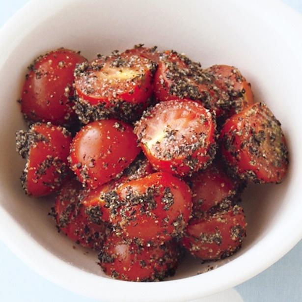 「ミニトマトのごまあえ」