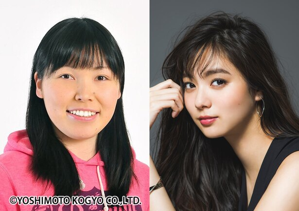 ドラマ「ブスだってILOVEYOU」でW主演する尼神インター・誠子(左)と新川優愛