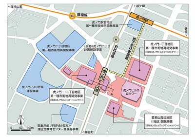 【写真を見る】虎ノ門ヒルズ駅と銀座線・虎ノ門駅とは地下通路で結ばれる