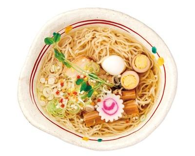 「お茶燻製麺」(750円)/麺 玉響 西尾店(愛知県西尾市)