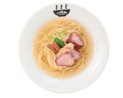 「塩そば」(750円)/自家製麺 公園前(愛知県岡崎市)