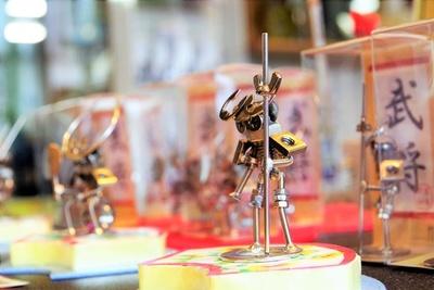武将のボルタ人形。想像力豊かになります