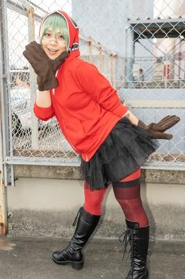 「VOCALOID」のマトリョシカ(GUMI)に扮したtaraさん