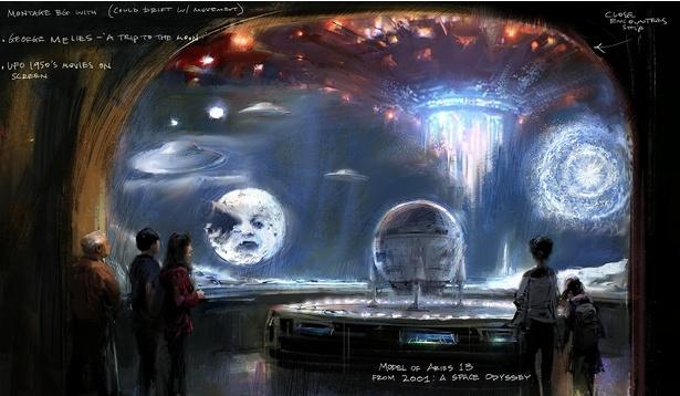 『2001年宇宙の旅』(68)のアリエス1B型月シャトルの模型