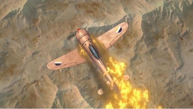 空戦アクションはCGでダイナミックに描かれる