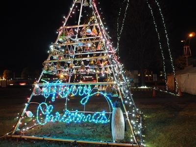 イルミネーションのクリスマスツリー
