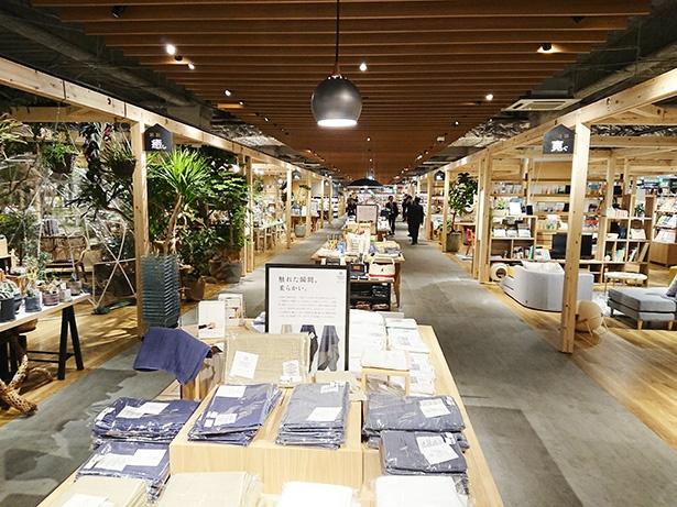 【写真を見る】展示スペースと通路がきっちりと分けられているので見やすい店内。通路も広々