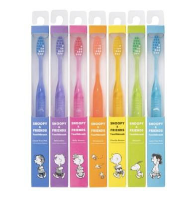 「スヌーピー&フレンズ歯ブラシ」(各378円)※W21×D17×H211mm