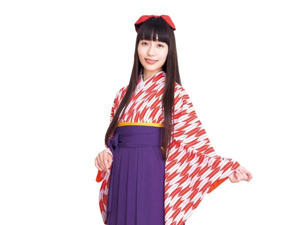 着物は季節ごとなどで入れ替わる。ブーツ(1080円)、巾着(540円)、リボン(324円)などのオプションも充実