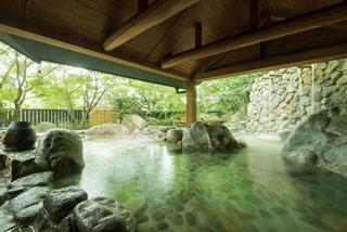 湯泉郷 温泉館 湯招花 / 西日本最大級の湧出量を誇る湯につかって、飲んで、疲労回復!
