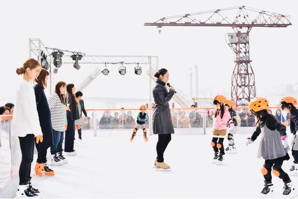 「Sea Sideアイススケートリンク」オープニングイベントに安藤美姫さんが出席