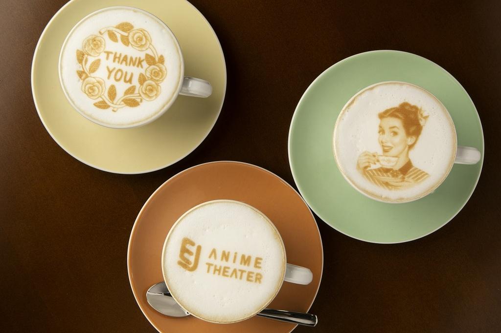 カフェでのラテアートイメージ