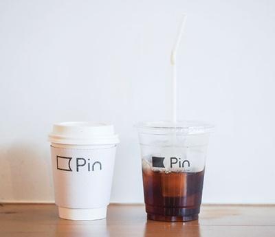 Pin / ブレンドコーヒー(ホット400円、アイス450円)。雑味がなくバランスのとれた味わい