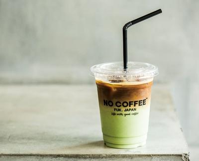 NO COFFEE / 抹茶ラテwithエスプレッソ(550円)。抹茶ラテの甘味とエスプレッソの苦味が想像以上にマッチする