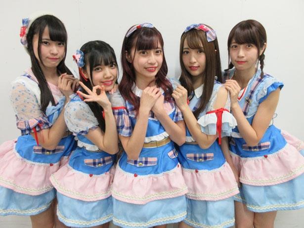「Ange☆Reve」の左から水野結愛、吉橋亜理砂、佐々木璃花、さいごうみずき、権田夏海