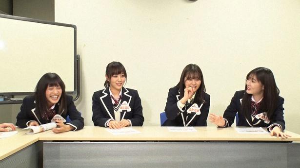 SKE48の9期生オーディションをメンバーが見守る