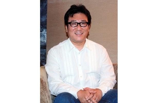 とても穏やかな語り口で撮影秘話を語ってくれたユン・ジェギュン監督