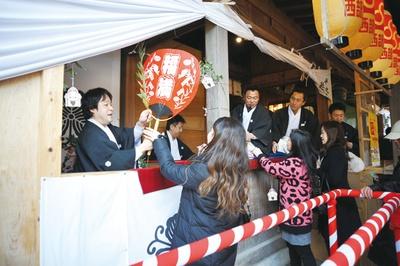 十日恵比須神社 正月大祭 / 縁起物をもらえる福引きにチャレンジ