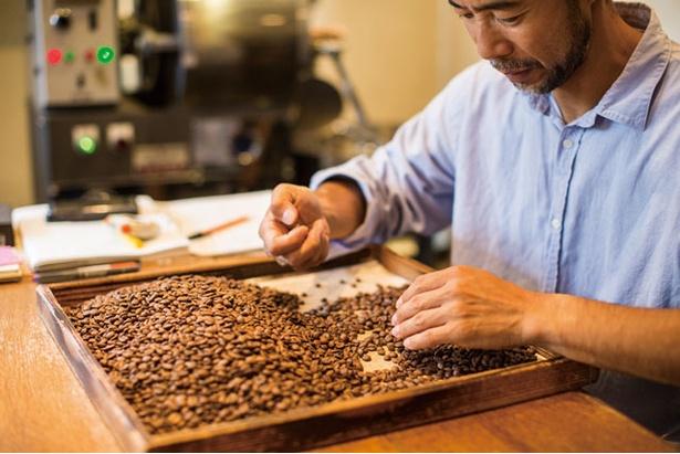 トモノウコーヒー / 生豆、焙煎後のハンドピックは基本と話す