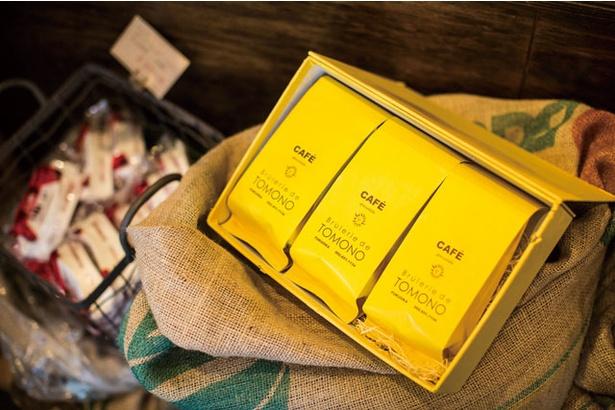トモノウコーヒー / 明るい黄色のパッケージは開業時から変わらない