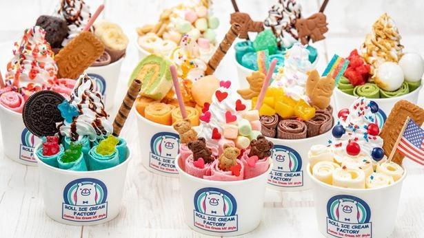 季節により味わえるフレーバーはさまざま!/ROLL ICE CREAM FACTORY(名古屋市中区)