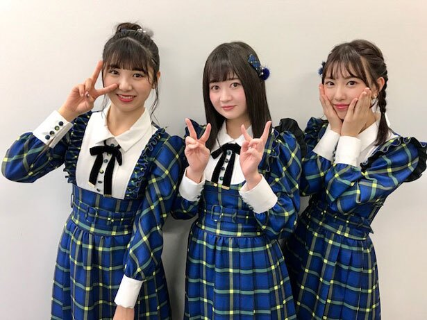 SKE48の左から菅原茉椰・江籠裕奈・熊崎晴香