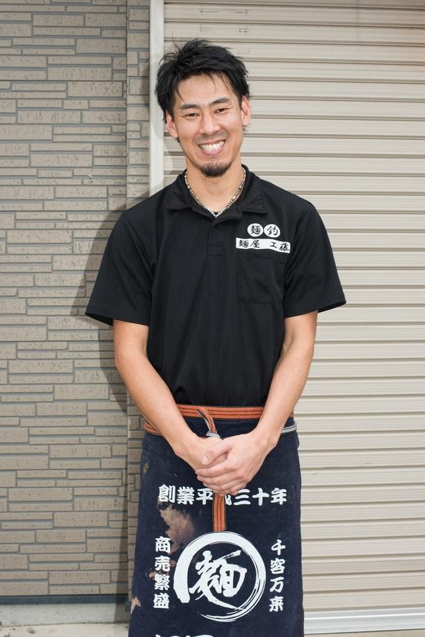 「近いうちに店の敷地内に製麺室を設置する予定です」と明かしてくれた店主の工藤美智夫さん