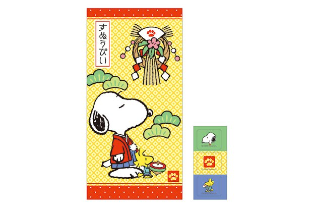 「スヌーピー 大判ポチ袋(和風)」(108円)