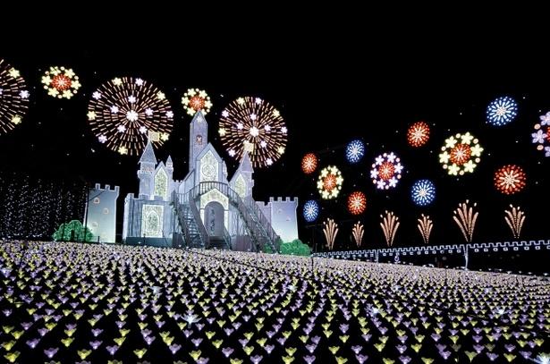 あしかがフラワーパーク「Flower Fantasy~光の花の庭2018~」※写真は2017年に登場したフラワーキャッスル