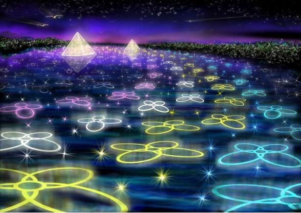 光のピラミッドと水中イルミネーション※写真はイメージ