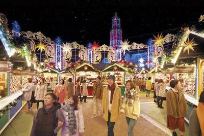 クリスマス雑貨などが並ぶ「光のクリスマスマーケット」