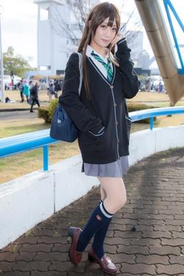 「アイドルマスターシンデレラガールズ 」の渋谷凛に扮した三日月冰さん