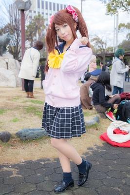 「アイドルマスターSideM」の水嶋咲に扮したこんこさん
