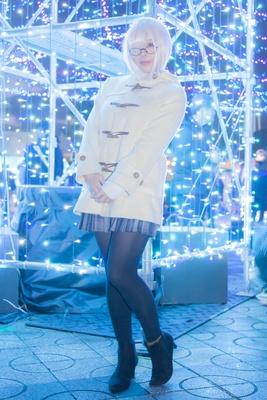 「Fate/GrandOrder」のマシュ・キリエライトに扮した椿さん