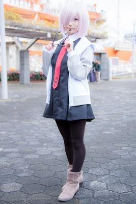「Fate/GrandOrder」のマシュ・キリエライトに扮した雪見さん