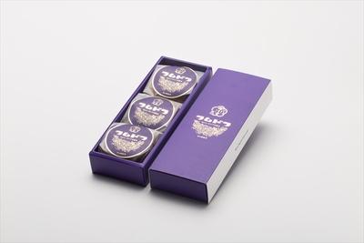 梅月堂「ラムドラ 3個入り」パッケージ