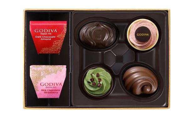 「ゴディバフェアリーケークアソートメント」(6粒入2160円)。「ゴディバフェアリーケークコレクション」の限定チョコレートと限定カレ、定番チョコレートが入ったアソートメント