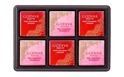 2種類のバレンタイン限定カレを詰め合わせた「ゴディバフェアリーケークカレアソートメント」(6枚入1080円)