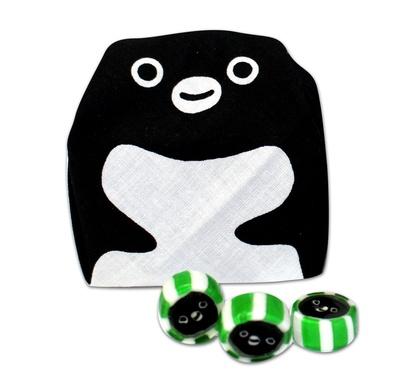 Suicaのペンギンでお包み!まめぐい「まめぐいSuicaのペンギン」(648円、お菓子のセット1188円~)
