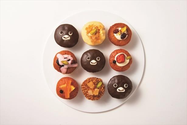 Suicaのペンギンをモチーフにしたチョコパウンドケーキと人気のフルーツパウンドケーキが入ったアソート(プティパウンド・Suicaのペンギン)