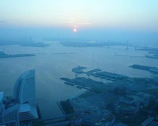 横浜ランドマークタワー「スカイガーデン」の眺望