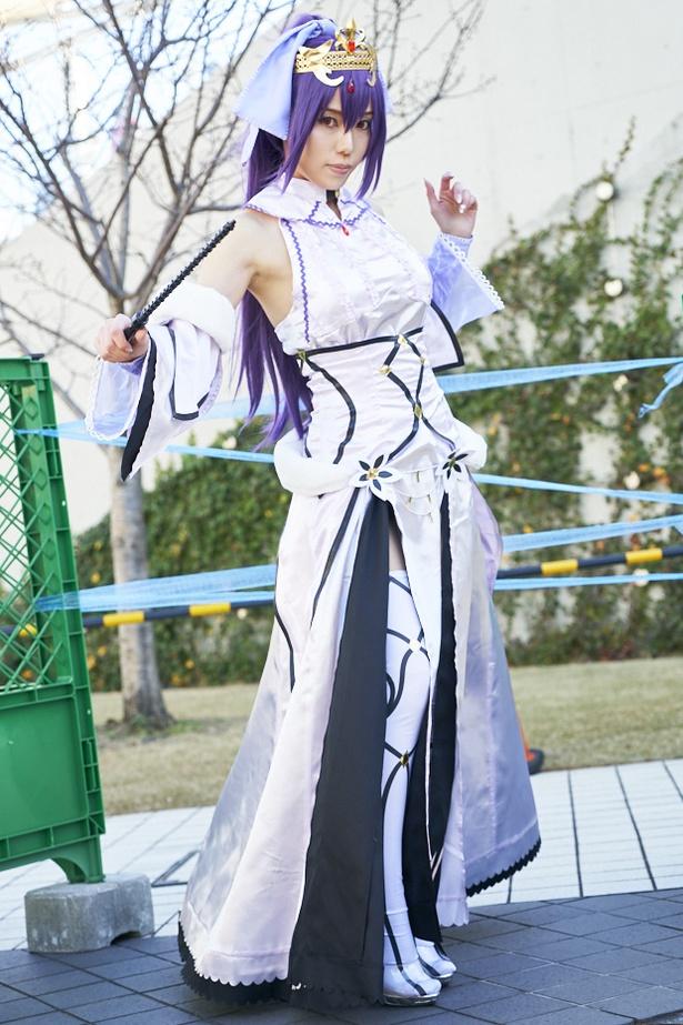 「Fate/Grand Order」のスカサハ=スカディに扮したつるぴさん(@TsuruMI88) メイクをにせれるように頑張りました。