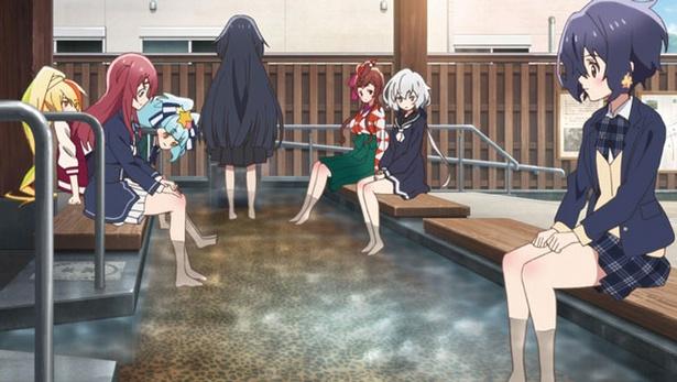 第4話より。女性にもおすすめな嬉野温泉を、足湯で体感できる