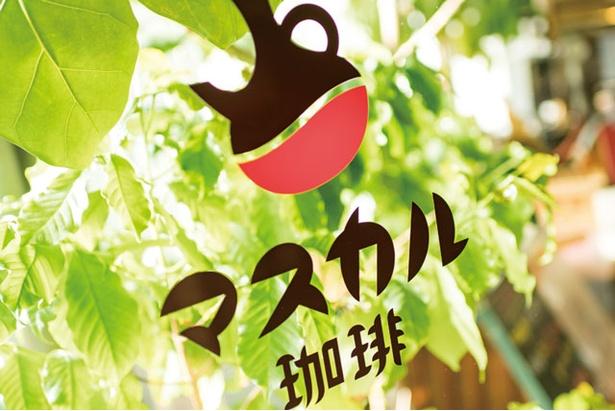 マスカル珈琲 / 店のロゴはセレモニーの際に使うドリップポットから