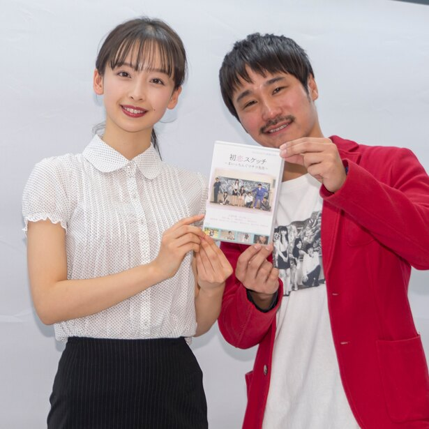 DVD発売イベントに出席した華村あすかと前田けゑ