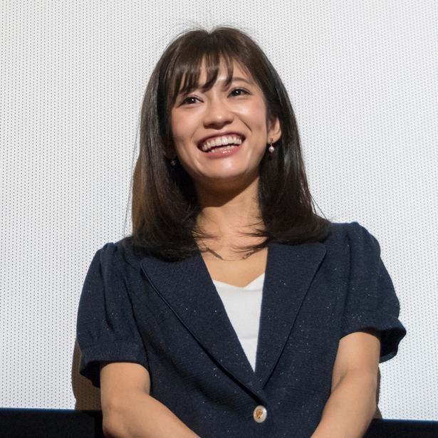 2018年に行われた初日舞台あいさつに登壇した大澤玲美