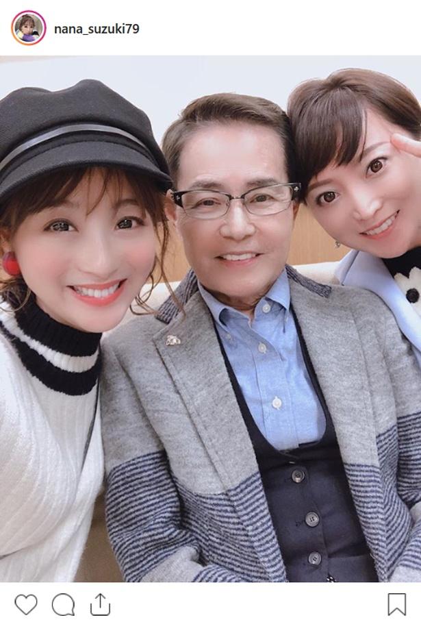 【写真を見る】加藤茶夫妻と交流する鈴木奈々