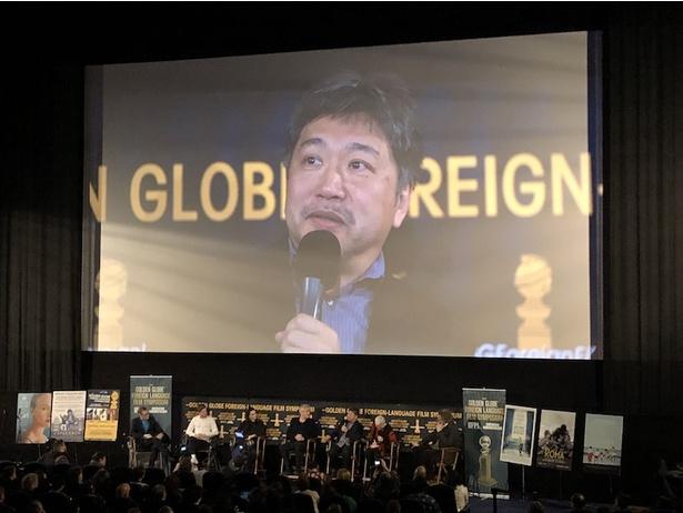 是枝裕和監督が語った『万引き家族』の成り立ちに拍手喝采が起きた