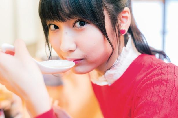 人気連載「SKE48のふぅふぅ女子♥」のスピンオフ企画として、「メンバーとおいしいラーメンを食べた~い♥」を勝手に妄想しちゃいました!今回の彼女はチームSの野村実代ちゃん♪